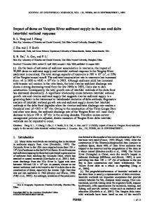 Impact of dams on Yangtze River sediment supply to the sea and delta intertidal wetland response