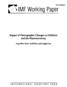 Impact of Demographic Changes on Inflation and the Macroeconomy