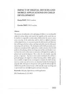 IMPACT OF DIGITAL DEVICES AND MOBILE APPLICATIONS ON CHILD DEVELOPMENT