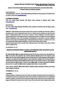 IMPACT OF ENTREPRENEURSHIP EDUCATION ON ENTREPRENEURIAL CAREER PERCEPTIONS: EVIDENCE FROM AN EMERGING ECONOMY