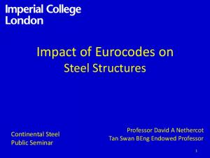 Impact of Eurocodes on Steel Structures