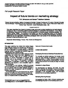 Impact of future trends on marketing strategy