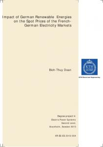 Impact of German Renewable Energies on the Spot Prices of the French- German Electricity Markets