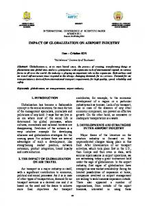 IMPACT OF GLOBALIZATION ON AIRPORT INDUSTRY