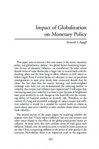 Impact of Globalization on Monetary Policy
