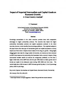 Impact of Imported Intermediate and Capital Goods on Economic Growth: