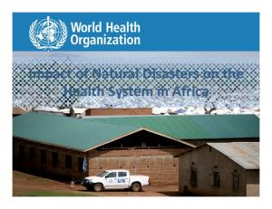 Impact of Natural Disasters on the Health System in Africa