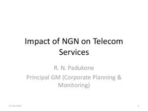 Impact of NGN on Telecom Services