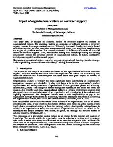 Impact of organizational culture on coworker support