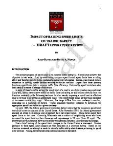 IMPACT OF RAISING SPEED LIMITS