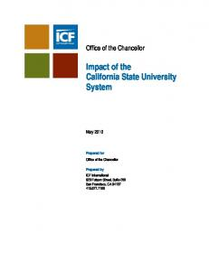 Impact of the California State University System