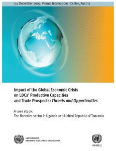 Impact of the Global Financial and Economic Crisis on the Fish Industry in Uganda and Tanzania