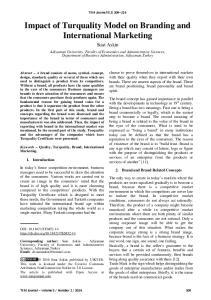 Impact of Turquality Model on Branding and International Marketing