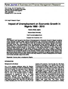 Impact of Unemployment on Economic Growth in Nigeria