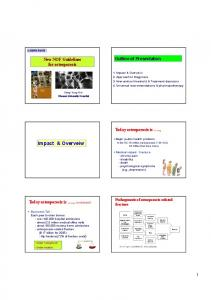 Impact & Overveiw. Outline of Presentation. New NOF Guidelines for osteoporosis. Today osteoporosis is.., Today osteoporosis is