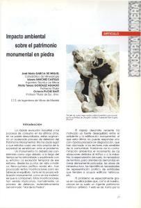 Impacto ambiental sobre el patrimonio monumental en piedra