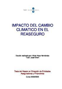 IMPACTO DEL CAMBIO CLIMATICO EN EL REASEGURO