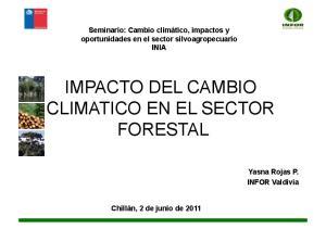 IMPACTO DEL CAMBIO CLIMATICO EN EL SECTOR FORESTAL