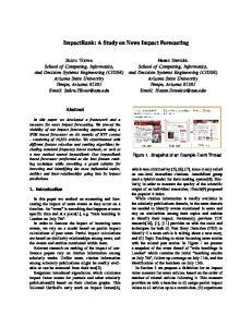 ImpactRank: A Study on News Impact Forecasting