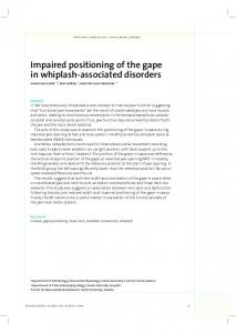 Impaired positioning of the gape in whiplash-associated disorders