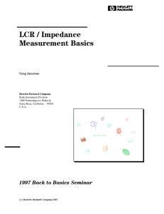 Impedance Measurement Basics