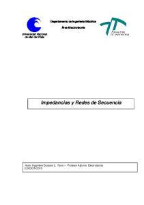 Impedancias y Redes de Secuencia