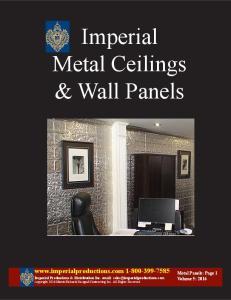 Imperial Metal Ceilings & Wall Panels