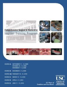 Implant Training Program