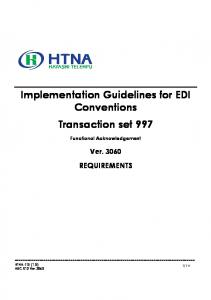 Implementation Guidelines for EDI Conventions Transaction set 997
