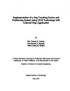 Implementation of a Dog Tracking Device and Positioning System using GSM Technology with Android Map Application