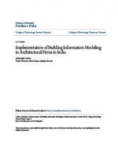 Implementation of Building Information Modeling in Architectural Firms in India