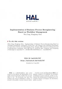 Implementation of Business Process Reengineering Based on Workflow Management