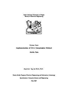 Implementation of DCA Compression Method