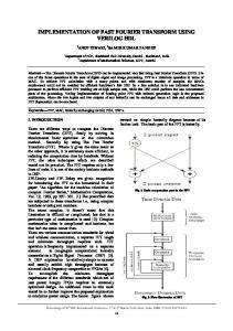 IMPLEMENTATION OF FAST FOURIER TRANSFORM USING VERILOG HDL