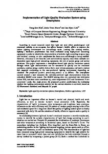 Implementation of Light Quality Evaluation System using Smartphone