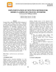 IMPLEMENTATION OF NEW PWM METHOD FOR DIODE CLAMPED MULTILEVEL INVERTER