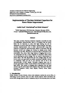 Implementation of Thyristor Switched Capacitors for Power Factor Improvement