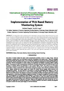 Implementation of Web Based Battery Monitoring System