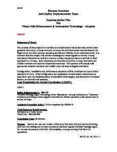 Implementation Plan For Visual Aids Enhancement & Automation Technology - Airports
