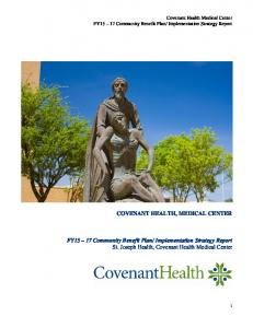 Implementation Strategy Report St. Joseph Health, Covenant Health Medical Center