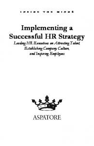 Implementing a Successful HR Strategy