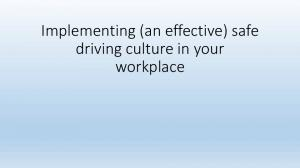 Implementing (an effective) safe driving culture in your workplace