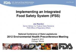Implementing an Integrated Food Safety System (IFSS)