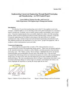 Implementing Concurrent Engineering Through Rapid Prototyping and Manufacturing - An NSF-Funded Project