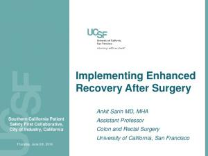 Implementing Enhanced Recovery After Surgery