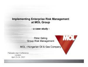 Implementing Enterprise Risk Management at MOL Group