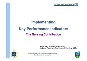 Implementing Key Performance Indicators