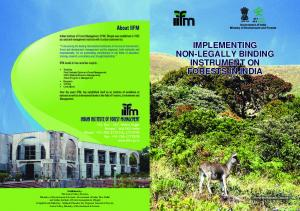 IMPLEMENTING NON-LEGALLY BINDING INSTRUMENT ON FORESTS IN INDIA