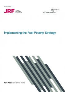 Implementing the Fuel Poverty Strategy