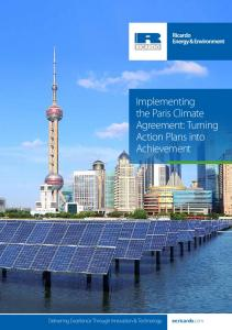 Implementing the Paris Climate Agreement: Turning Action Plans into Achievement